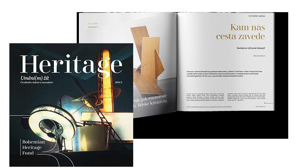 Magazíny Heritage ke čtení